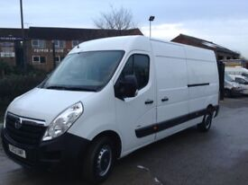 2013 Vauxhall movano 2.3 cdti 6 speed a/c lwb high roof 1 owner no vat