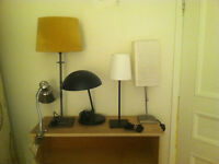 Lamps, chairs, smal desks