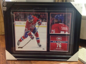 PK Subban framed 3 photo collage. NHL officially licensed  frame