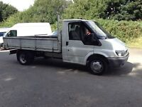 2002 ford transit 2.4 tddi twin wheel flat bed dropside pickup only 117,000 miles not tipper