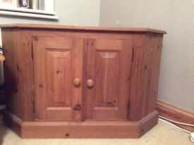 Solid pine tv cabinet. OFFERS