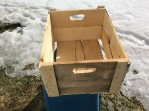 caisses de bois / boite de bois