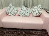 IKEA pink sofa