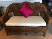 New rattan two seater settee