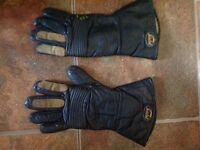 Ladies/men's lined leather motorcycle gloves