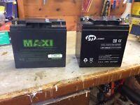 2 Golf trolley batteries.