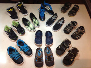 Boys shoes size 11, 12, 13 & Y1 - Adidas, Crocs, DC, Timberland,