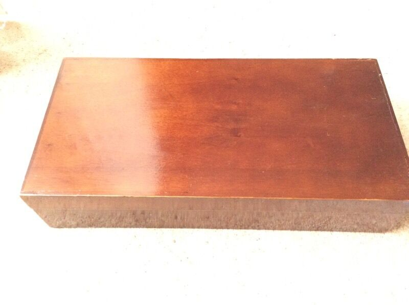 Wooden Box 17 inches wide approx 9 inches wide And depth is 4inches