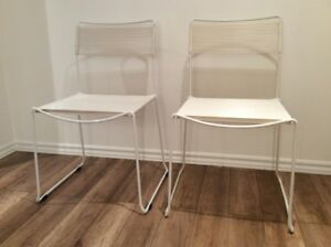 2x Vintage 1980 Spaghetti Chairs by Belotti-Chaises Retro 1980