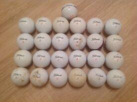 25 TITLEIST GOLF BALLS