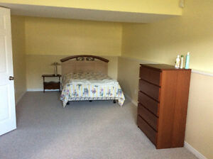 Large furnished basement room for rent