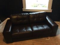 LEATHER NEXT 3 SEATER SOFA (EX COND)