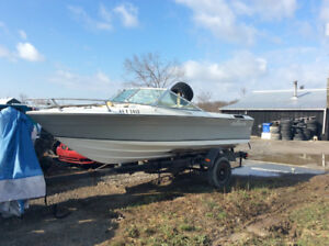 "17"" Grew inboard boat and trailer for sale"