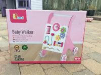 Brand New Sealed in box Viga Baby Walker activity centre pink