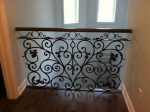 Railings for stairs, pickets, wrought iron balusters