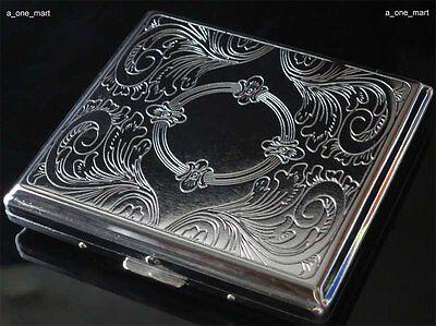 Metall Zigarettenetui Zigarettenbox Hält 20 Zigaretten Silber