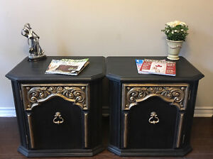 Beautiful Set Of Solid Wood Side Tables!