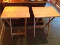 A pair if foldable tables