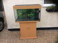 Juwel complete tropical aquarium fish tank set and cabinet