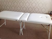 Portable beauticians massage bed