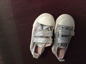 Toddler girl sneakers, about size 5