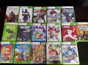 Xbox 360- plus Kinect+6 controllers-3 headsets-16 games+scene it