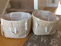 'Next' nursery storage bags x2
