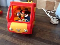 Micky mouse and his camper van