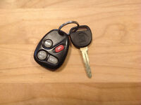 Lost car key and remote (Saturn)