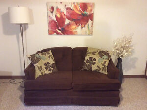 Brown Loveseat Couch