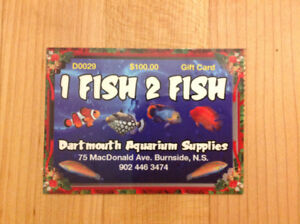 1 Fish 2 Fish Gift Card - $100 card for $80!