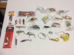 Assorted New and Used Fishing Lures