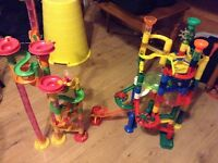 2 Marble playsets - over 150 pieces