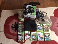 Xbox Slim 250gb, 11 games, 2 controllers, Kinect, Turtle beach headset, all cables included