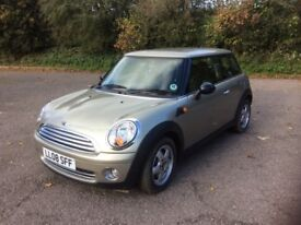Mini One 1.4 petrol 2008 low mileage for year. Excellent condition. FSH
