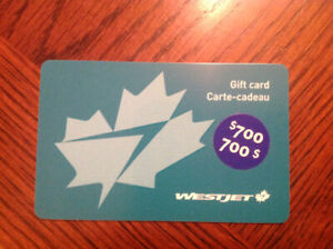 West Jet Gift card!!