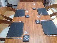 Grey slate table mats