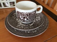 Cups, saucers and side plated