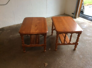 Wood end tables for sale