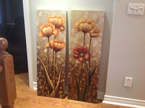 Vintage Poppies 1&2 canvas wall prints