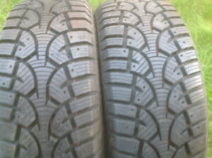 "PAIR OF 16"" CHALLENGER SNOW TIRES"