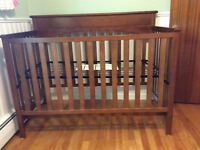 Convertable crib and matching change table.
