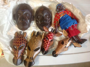 African masks and doll