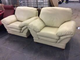 Spotlessly Clean extra Large Leather Armchairs