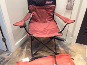 Two Camping chairs with carry bags Coleman