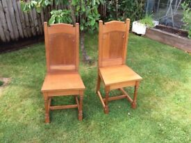 Pair of Church Chairs