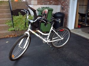 Ladies bike with front mount toddler seat
