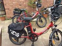 Pair of freego electric bicycles