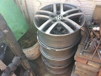 "16"" vw 5x112 stud pattern alloys x4"