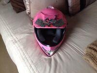Girls bike/quad helmet